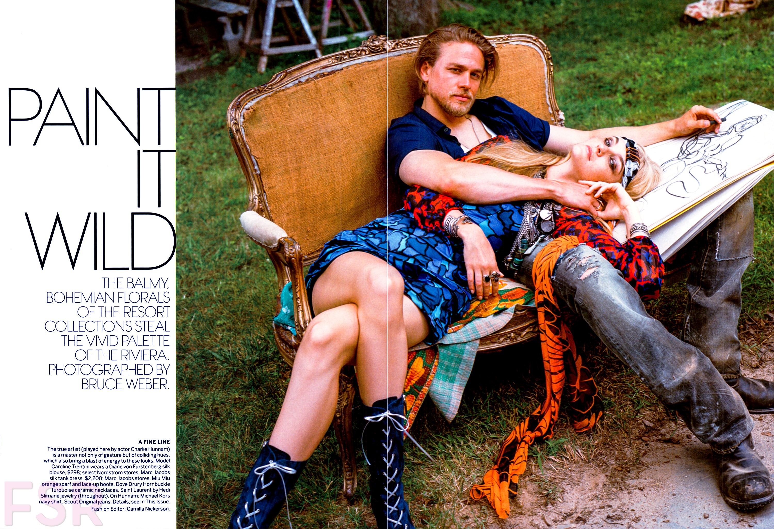 Vogue Charlie Hunnam Sons of Anarchy