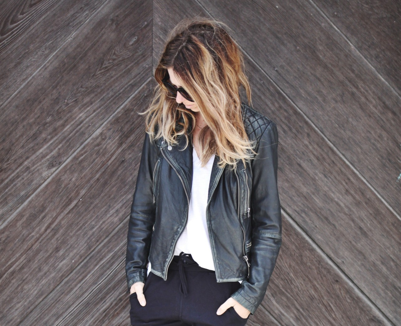HOW TO WEAR A BIKER JACKET AND LOOK LIKE A LADY