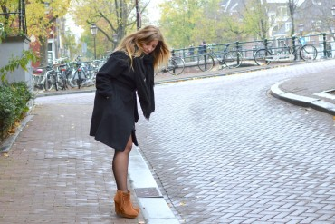 Warm winter coat outfit