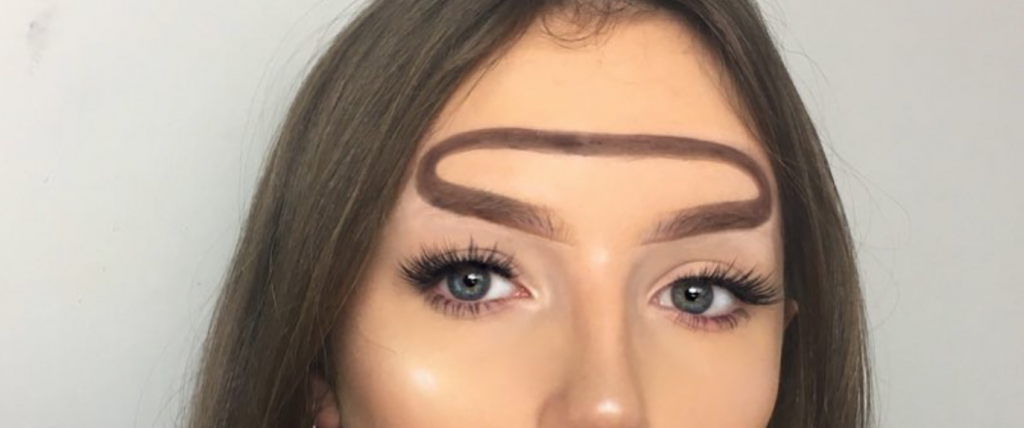 Halo eyebrow trend